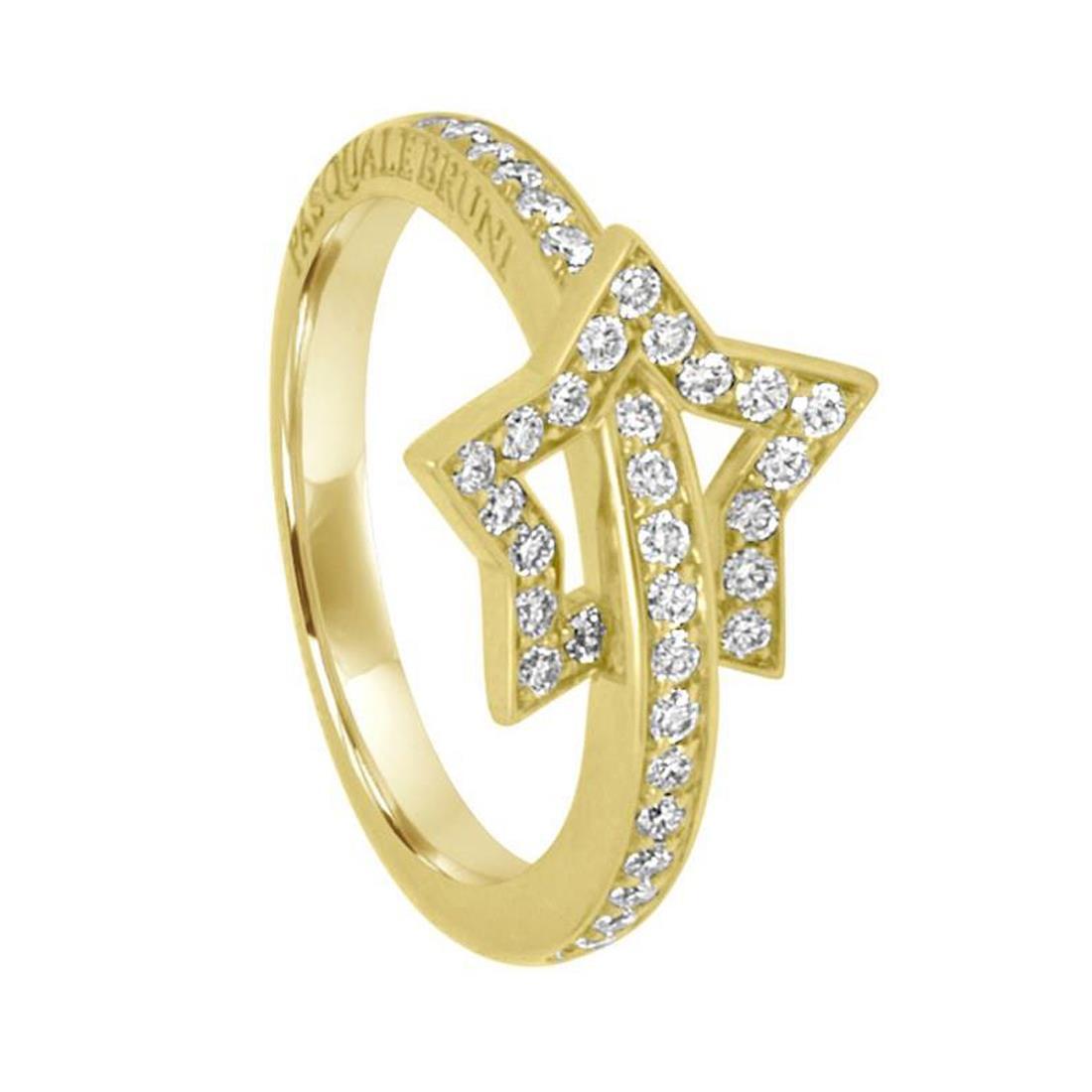 Anello in oro giallo e diamanti ct 0,45 - PASQUALE BRUNI
