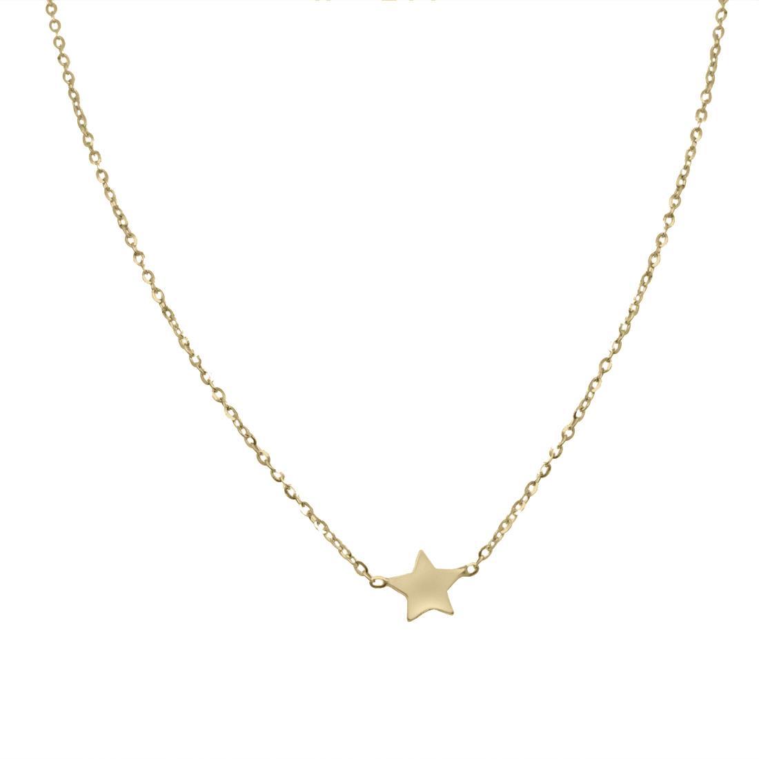 Collana in oro giallo con stella  - ORO&CO