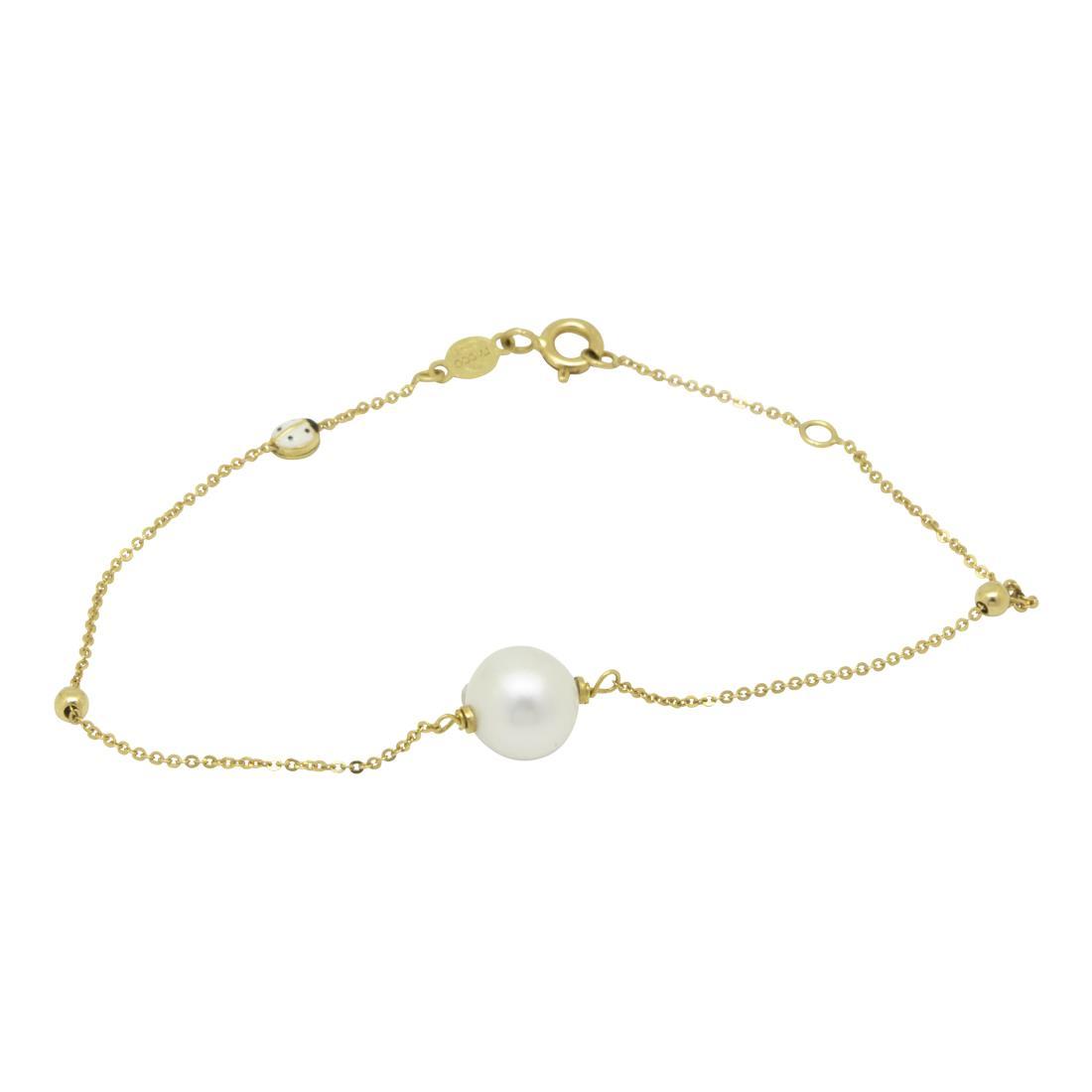 Bracciale in oro giallo con perla - ORO&CO