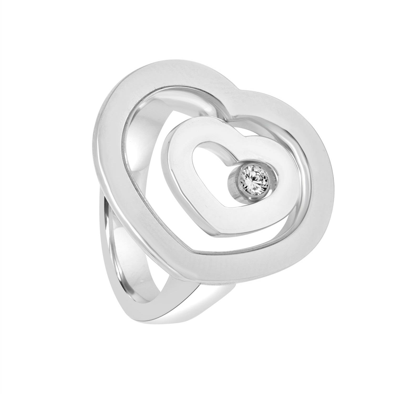 Anello in oro bianco con diamanti ct. 0,10 - CHOPARD