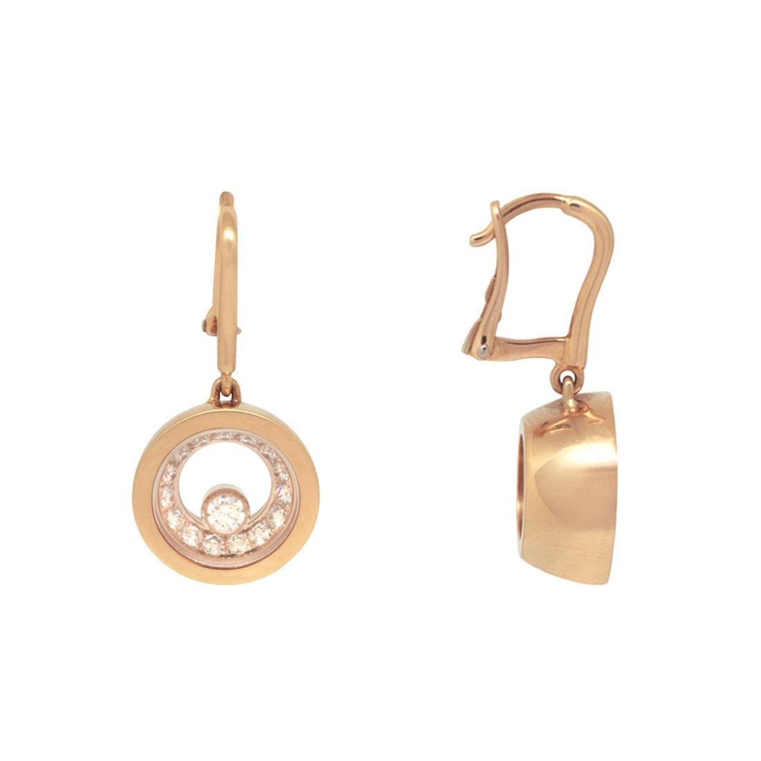 Orecchini in oro rosa con diamanti - CHOPARD