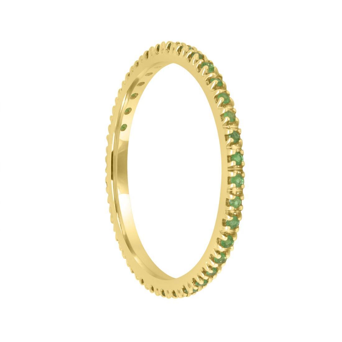 Anello veretta in oro con smeraldi mis 14 - ALFIERI & ST. JOHN