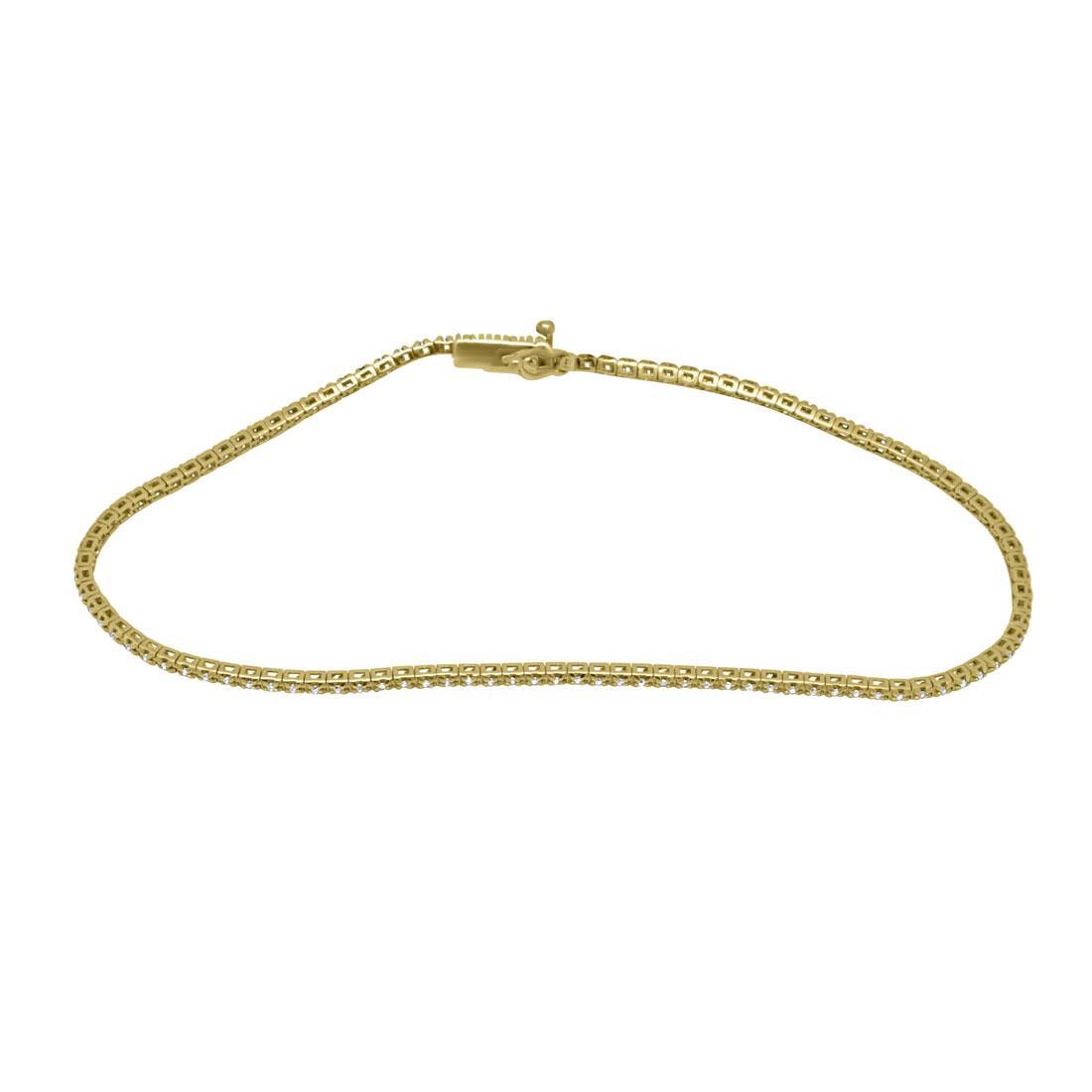 Bracciale in oro giallo con diamanti  - ALFIERI ST JOHN