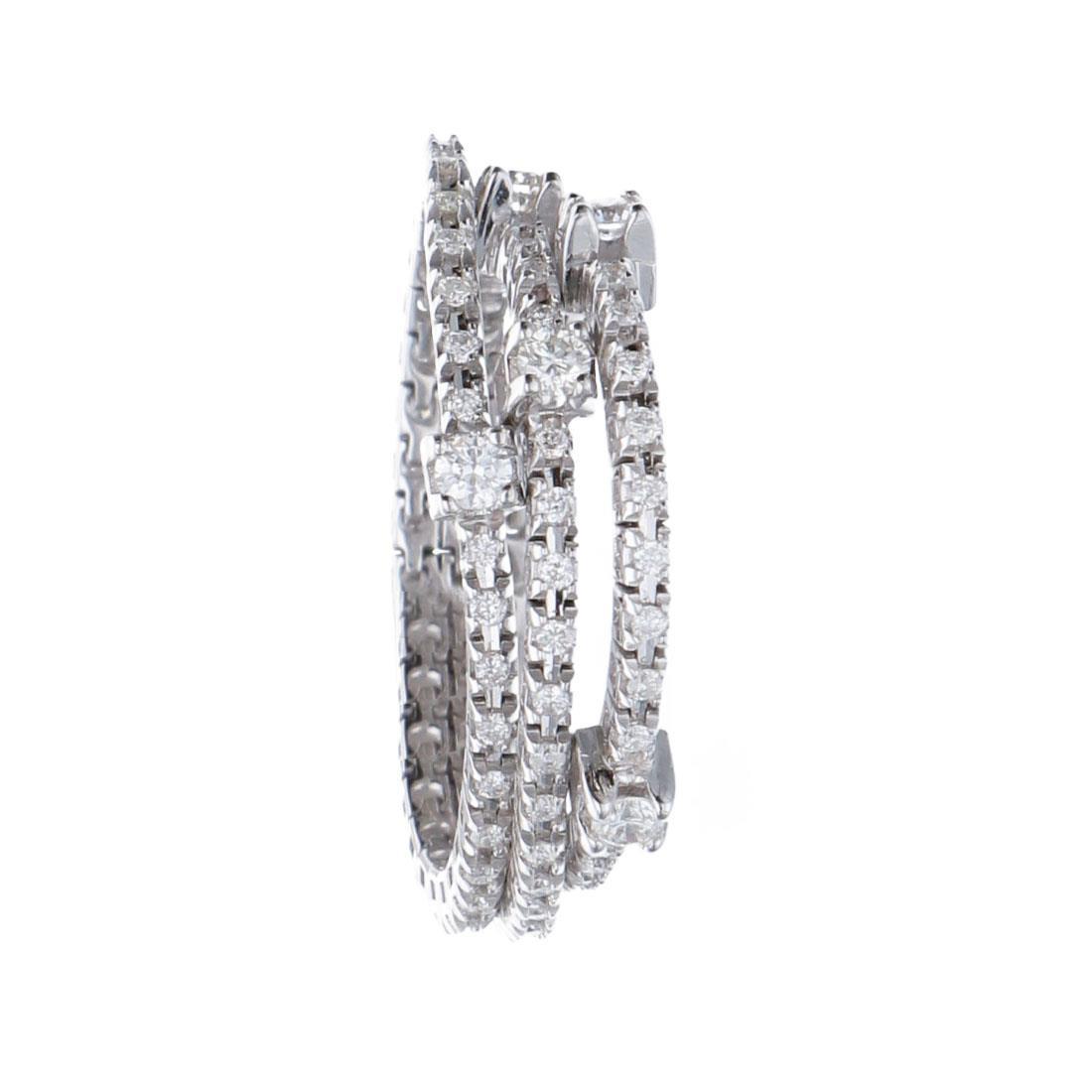 Anello semirigido in oro bianco con diamanti  - ALFIERI & ST. JOHN