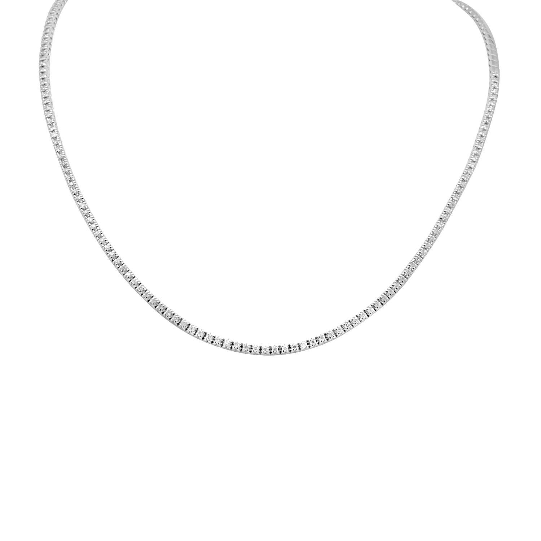 Collana in oro bianco con diamanti ct. 0,95 - ALFIERI ST JOHN