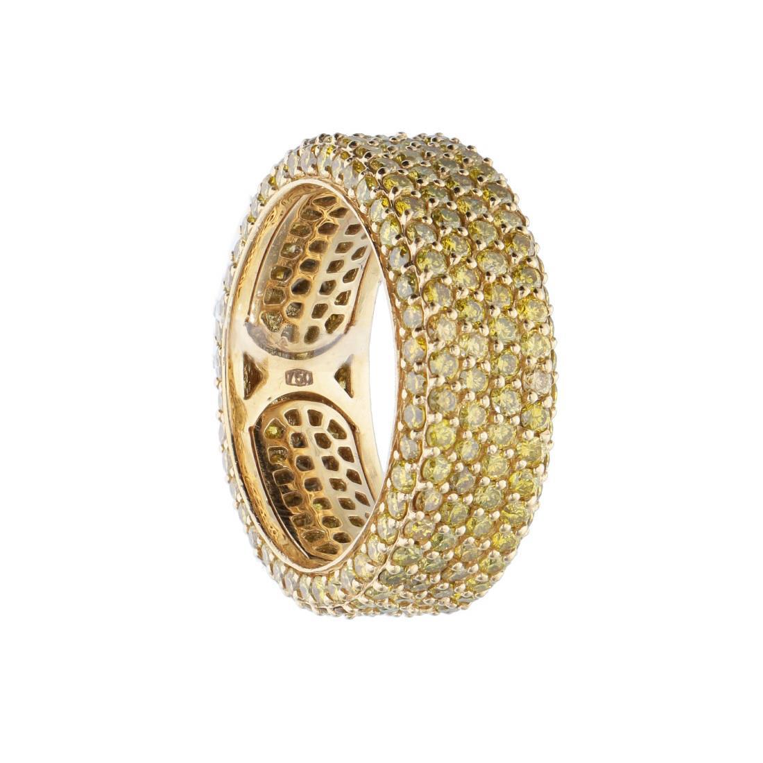 Anello in oro con diamanti naturali gialli trattti - ALFIERI & ST. JOHN