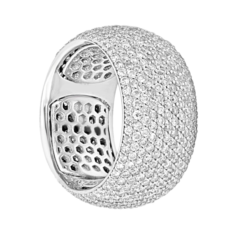 Anello in oro bianco con diamanti ct  3.70 mis 13 - ALFIERI & ST. JOHN