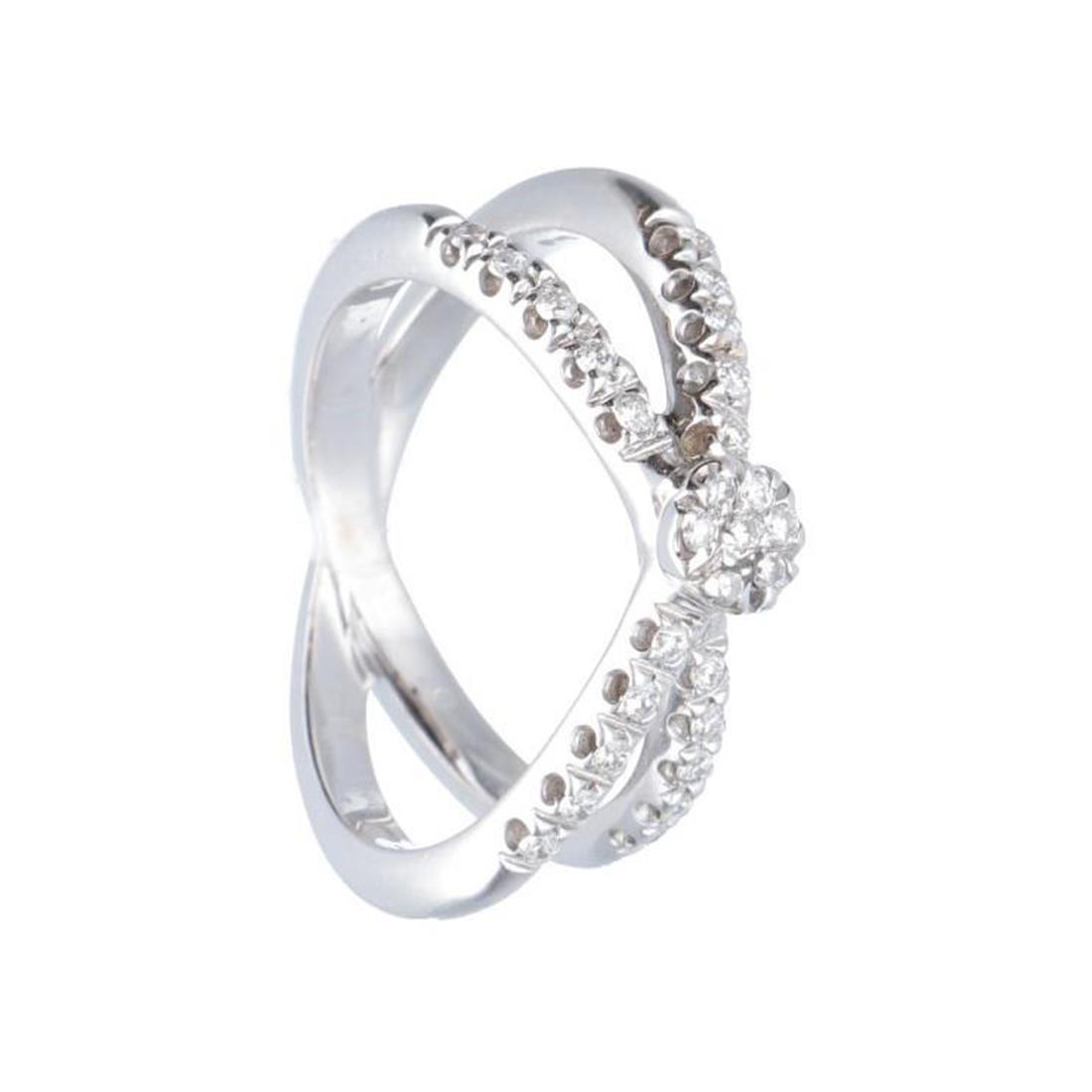 Anello in oro bianco con diamanti ct 0.50 - ALFIERI & ST. JOHN