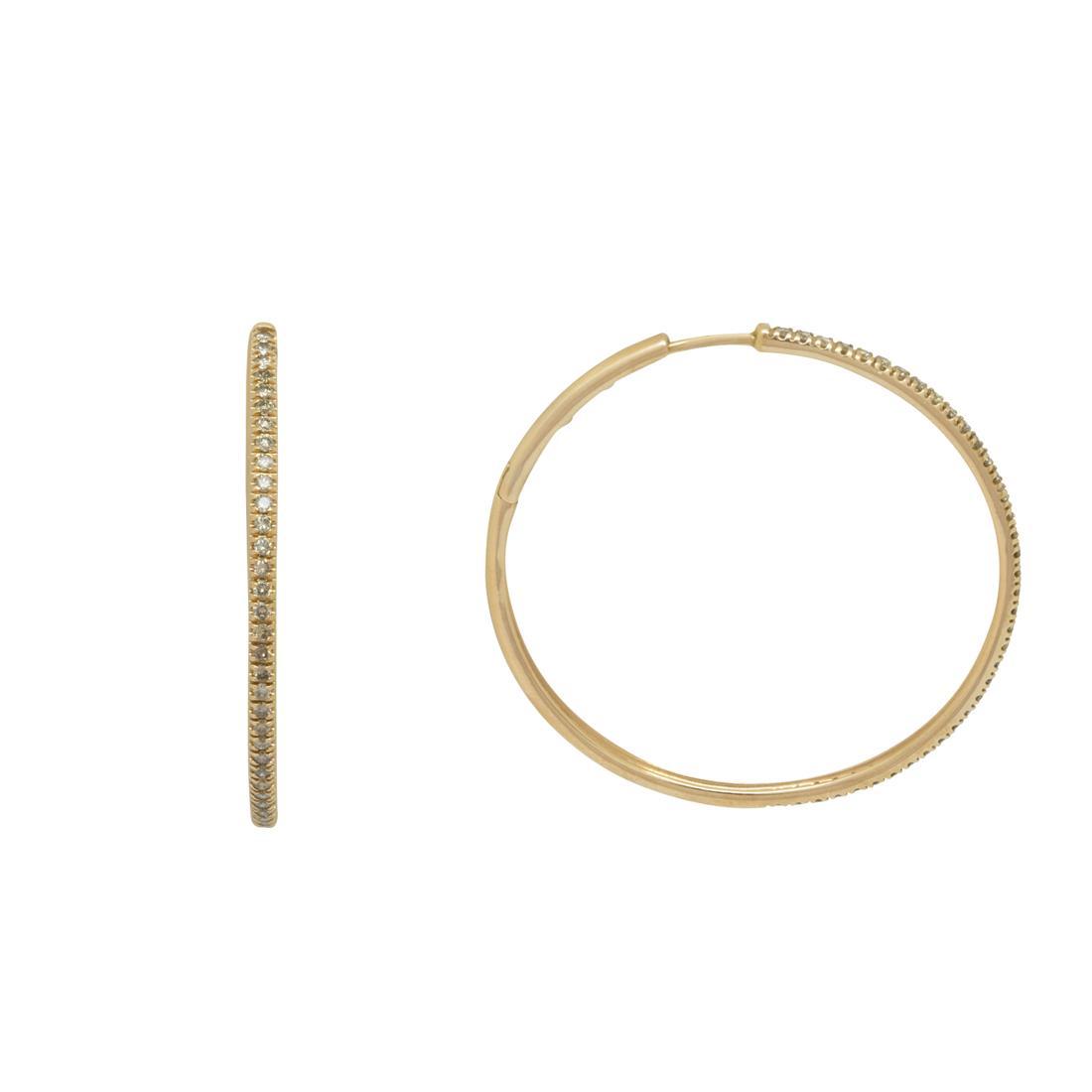 Orecchini a cerchio in oro rosa con diamanti 0.80 ct - ALFIERI & ST. JOHN
