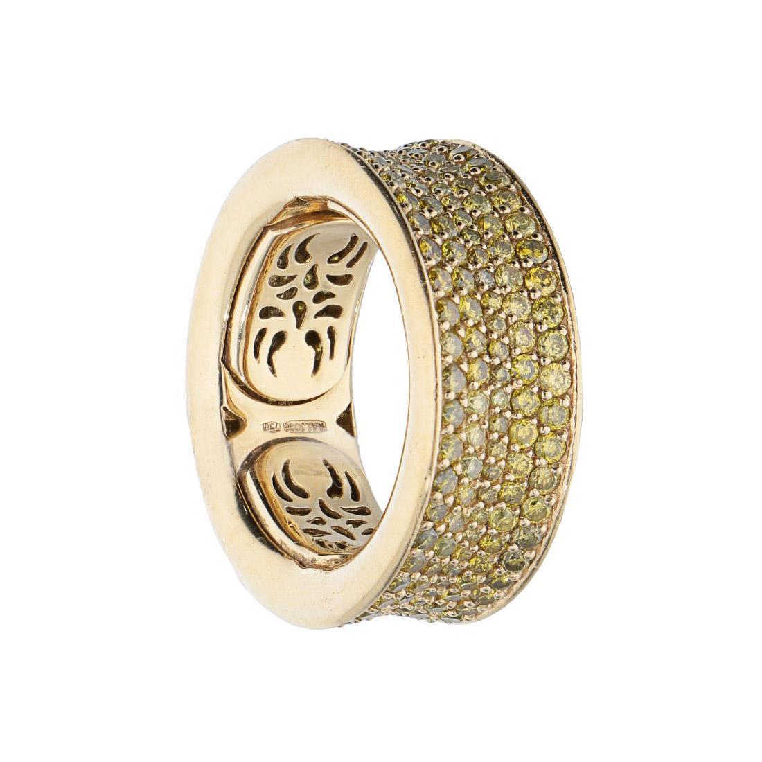 Anello in oro giallo con diamanti  - ALFIERI & ST. JOHN