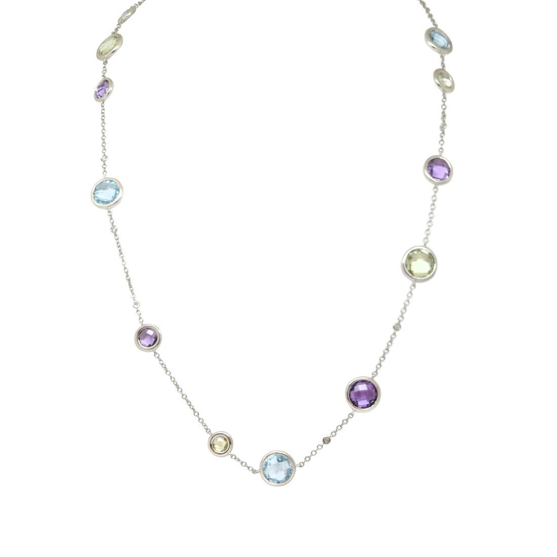 collana in oro bianco con diamanti e ametista - ALFIERI & ST. JOHN