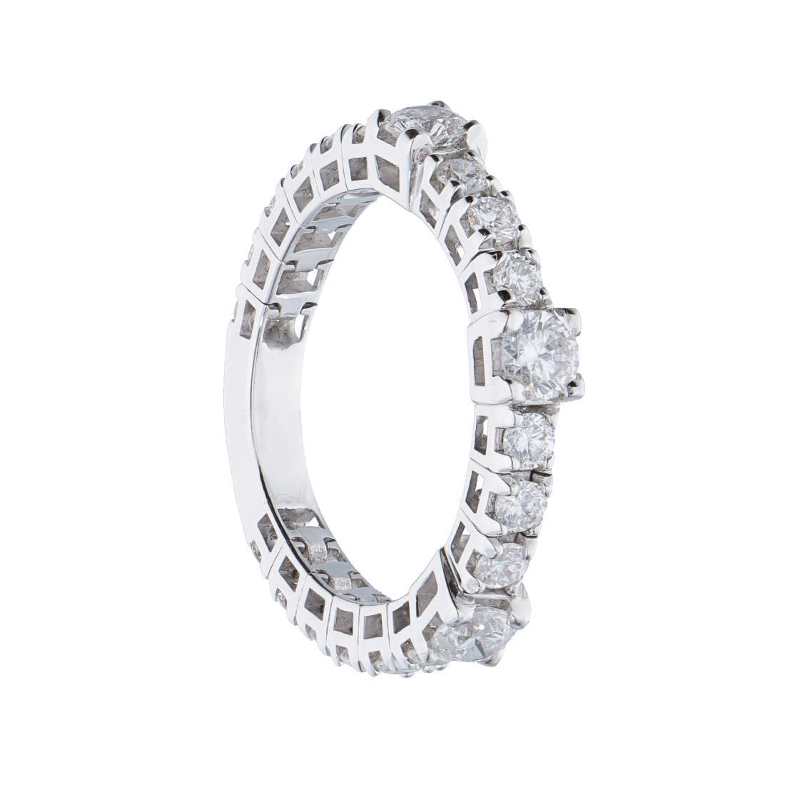 Anello in oro bianco con diamanti  - ALFIERI ST JOHN