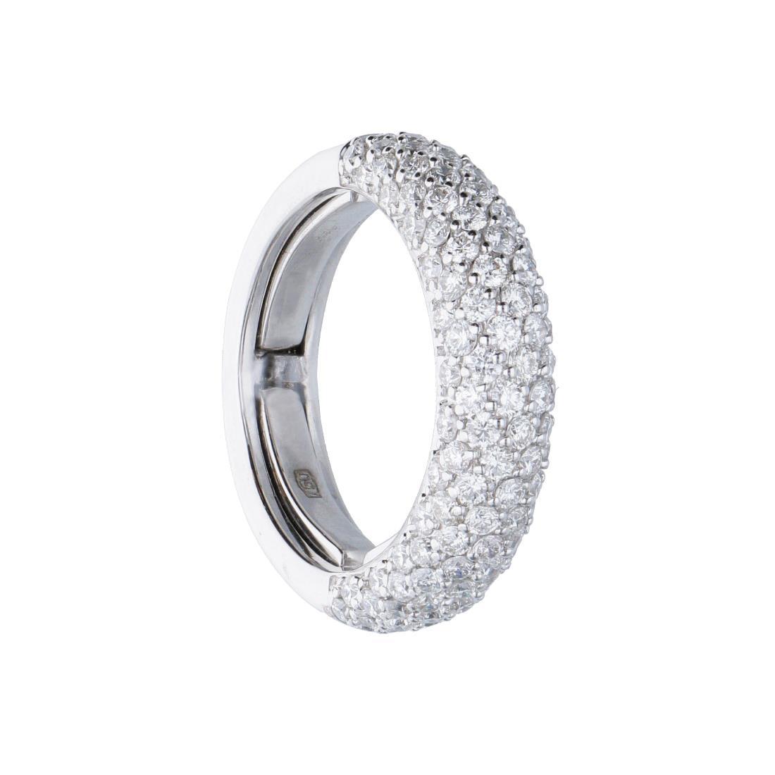 Veretta in oro bianco con pavé di diamanti  - ALFIERI & ST. JOHN