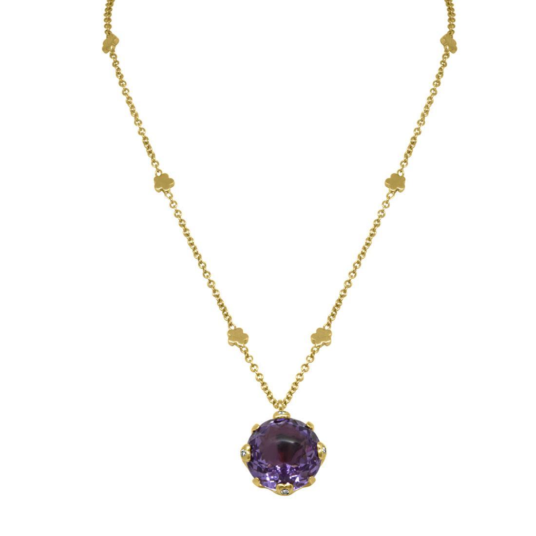 Collana in oro rosso con diamanti  - PASQUALE BRUNI