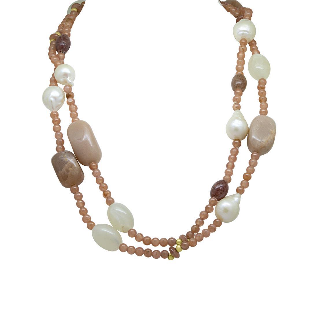 Collana di perle e pietre semipreziose - RIVIK