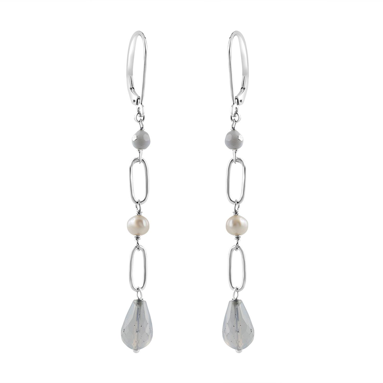 Orecchini in argento con perle - RIVIK