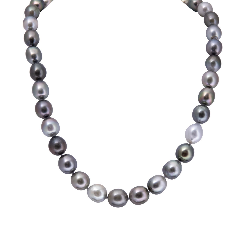 Collana con perle tahiti 8-11 - RIVIK