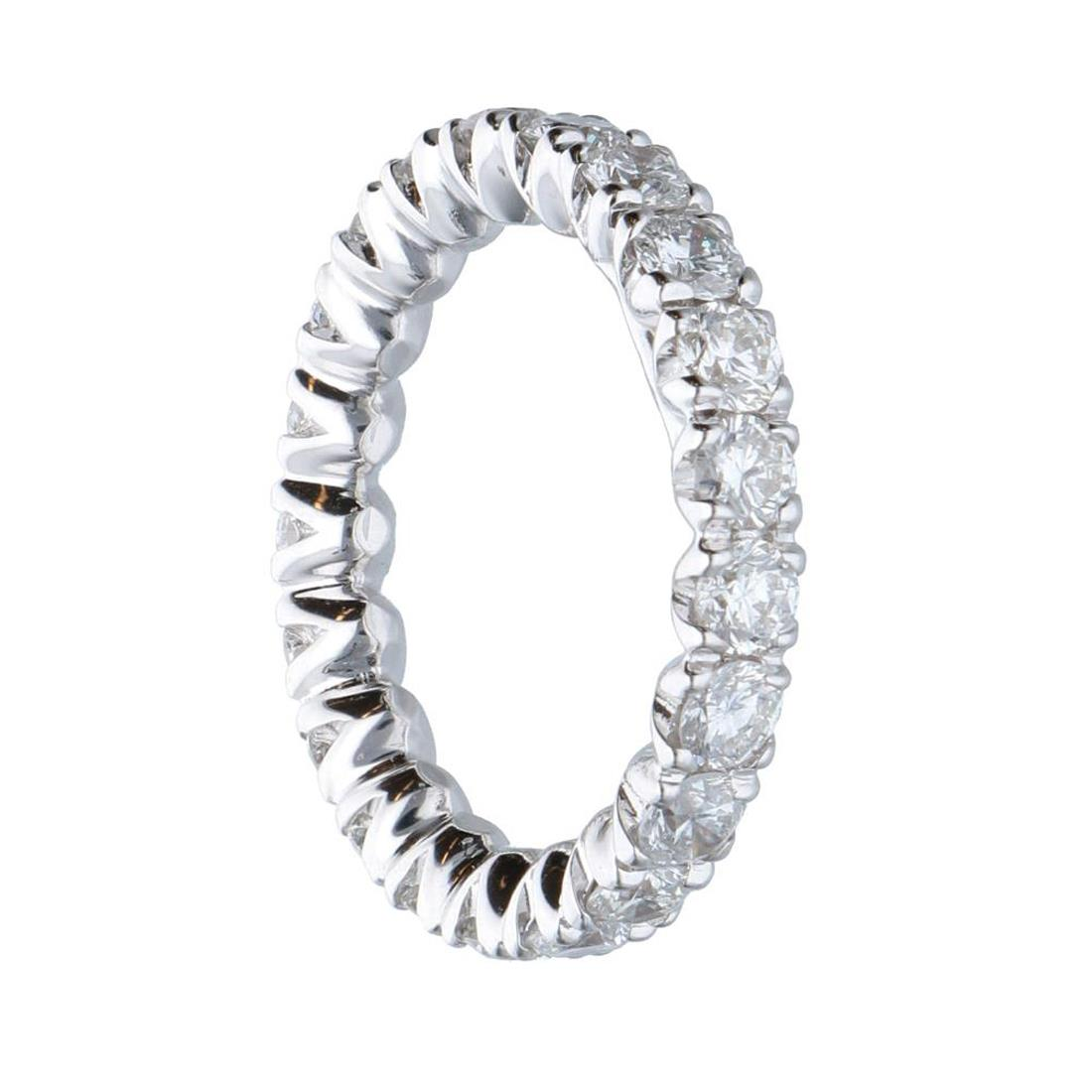 Anello eternity in oro bianco con diamanti 2.31 ct mis 12 - ALFIERI & ST. JOHN
