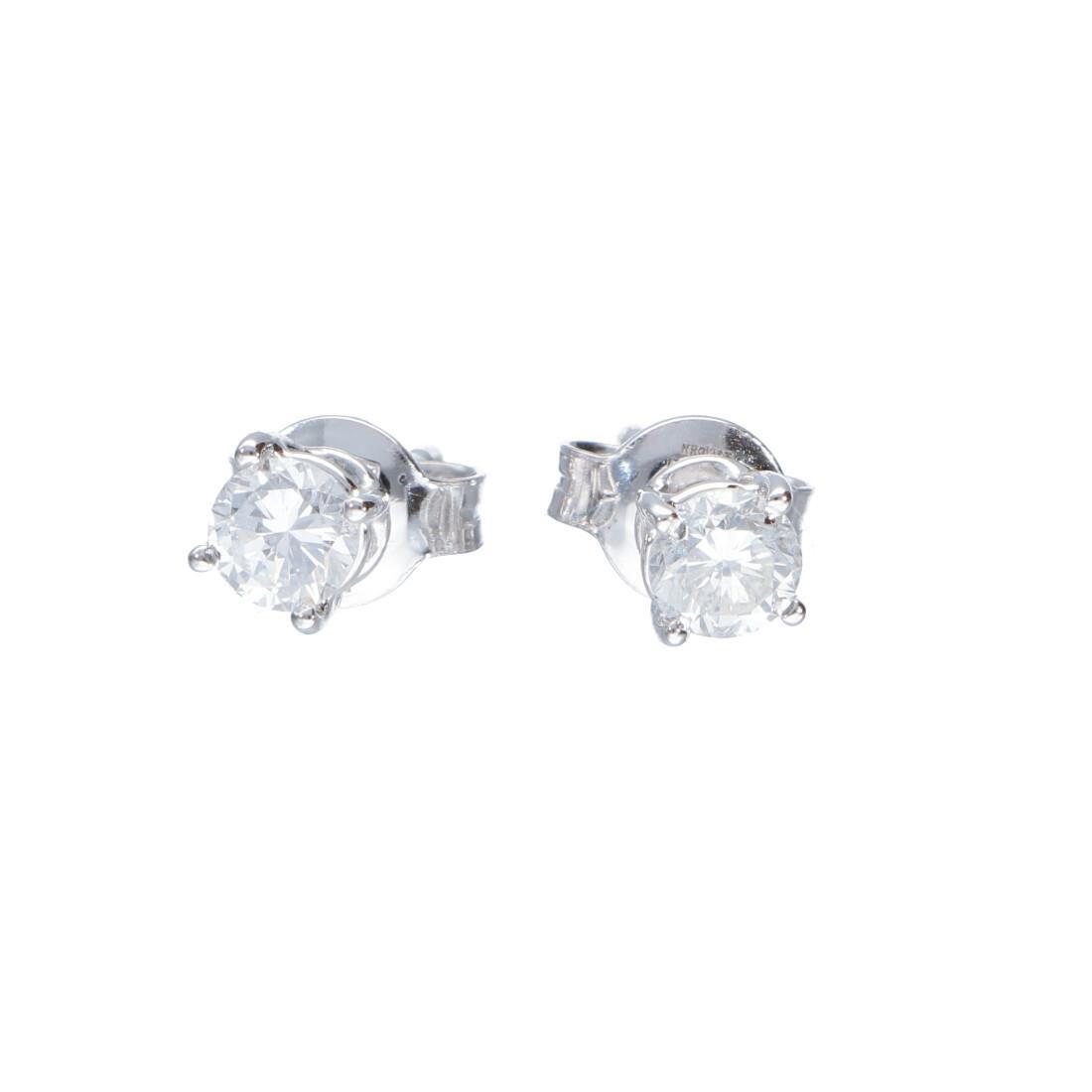 Orecchini punto luce in oro bianco con diamanti 0.62 ct - ALFIERI & ST. JOHN
