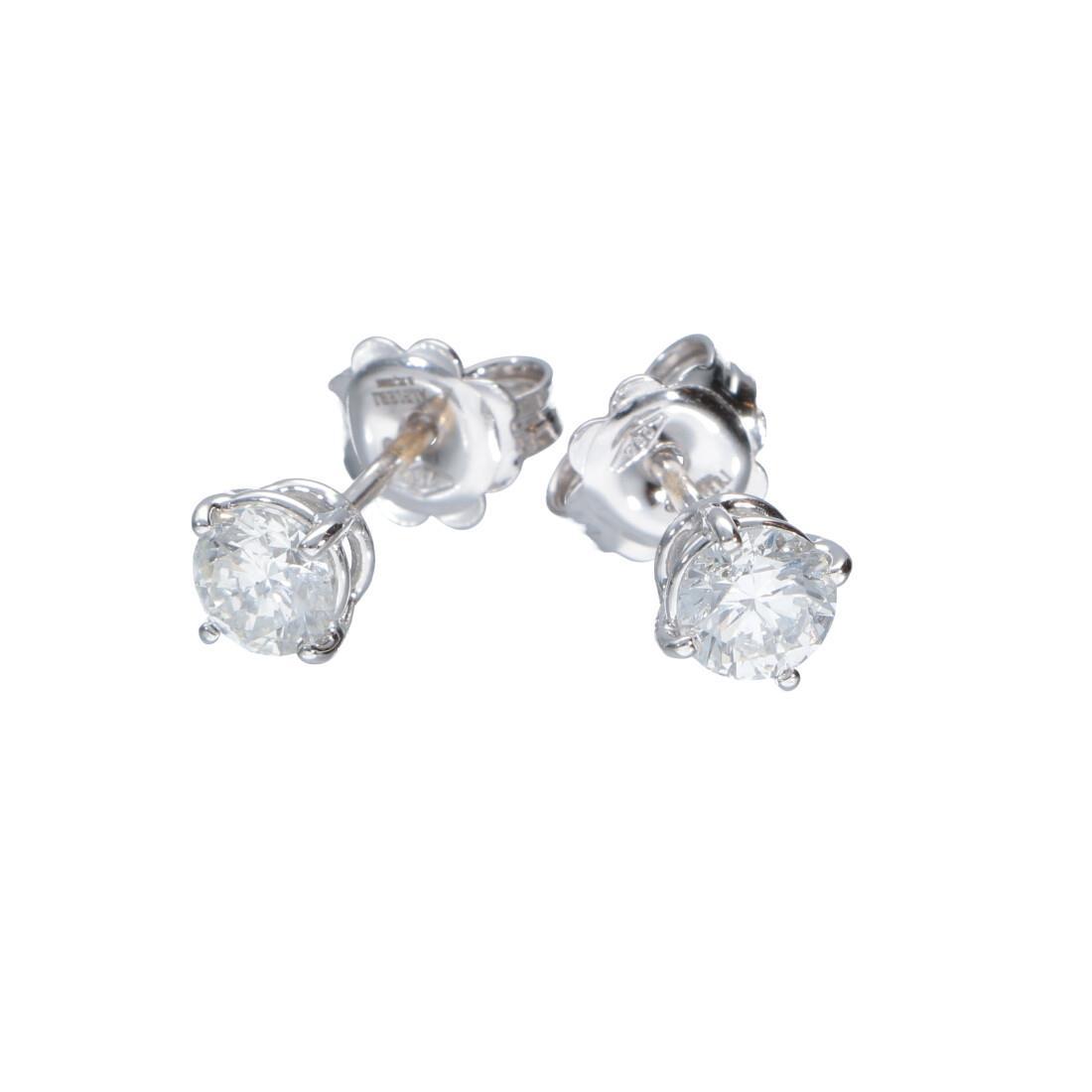 Orecchini punto luce in oro bianco con diamanti 1.06 ct - ALFIERI & ST. JOHN