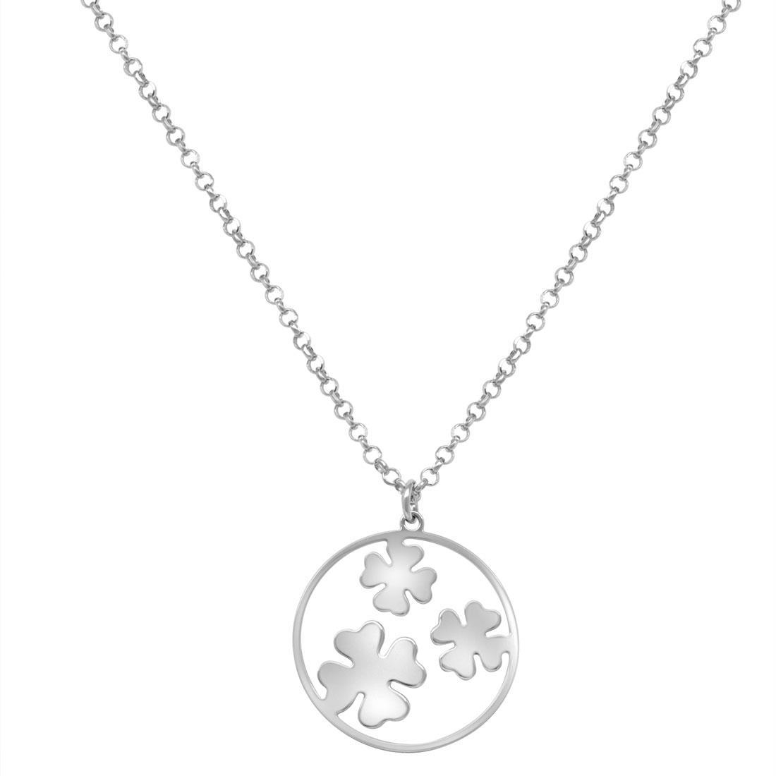 Collana in argento con pendente - ORO&CO