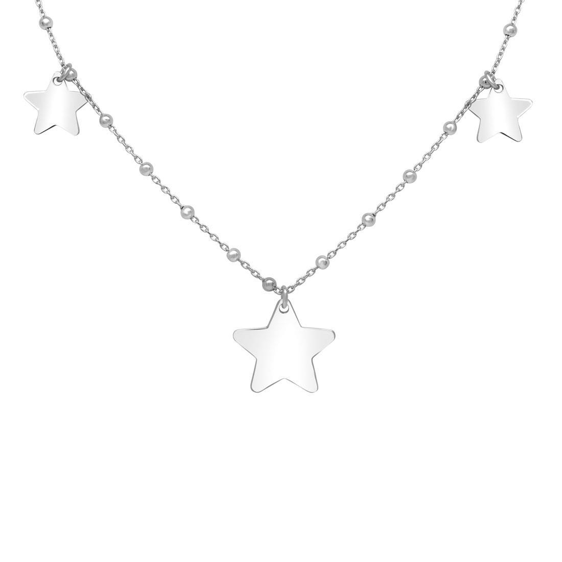 super popolare 5b6d9 0eeb2 Collana in argento 925 con stelline