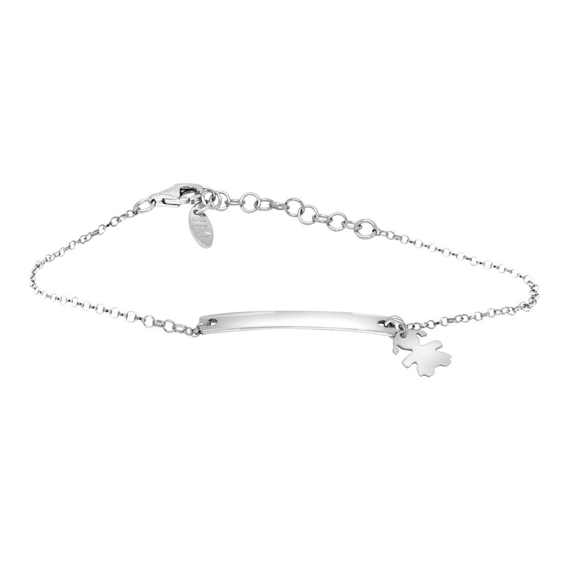 Bracciale in argento con targhetta - ORO&CO