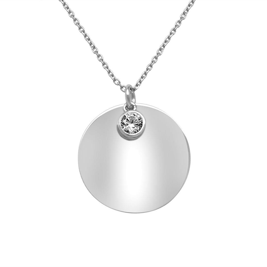 Collana in argento con zircone - ORO&CO