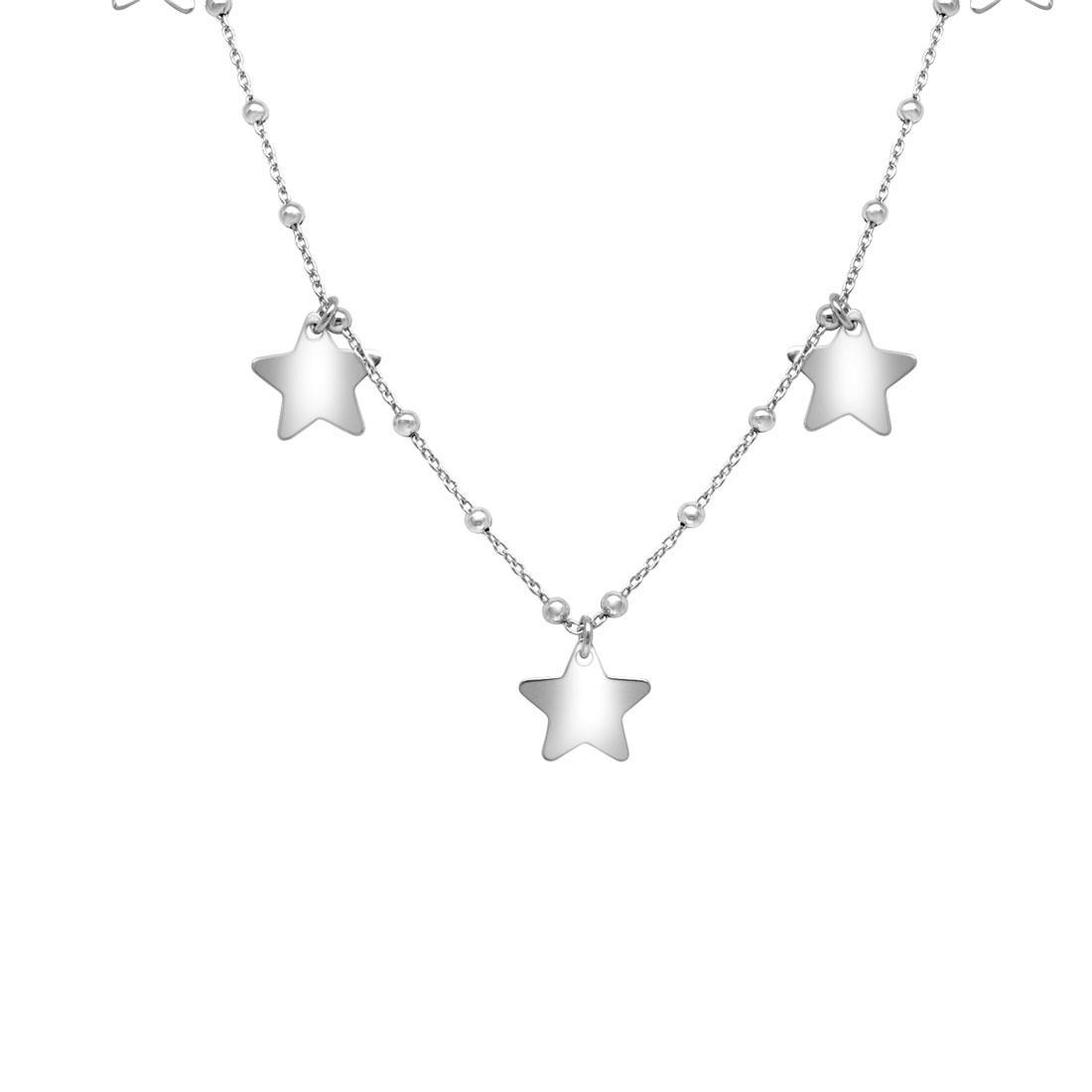 Collana in argento 925 con stelline - ORO&CO