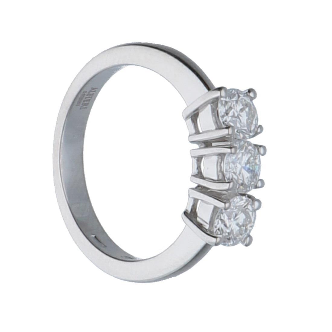 Anello trilogy in oro bianco con diamanti mis 13 - ALFIERI & ST.JOHN