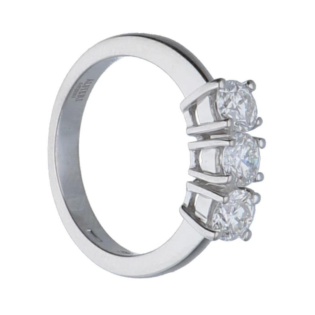 Anello trilogy in oro bianco con diamanti mis 13 - ALFIERI & ST. JOHN
