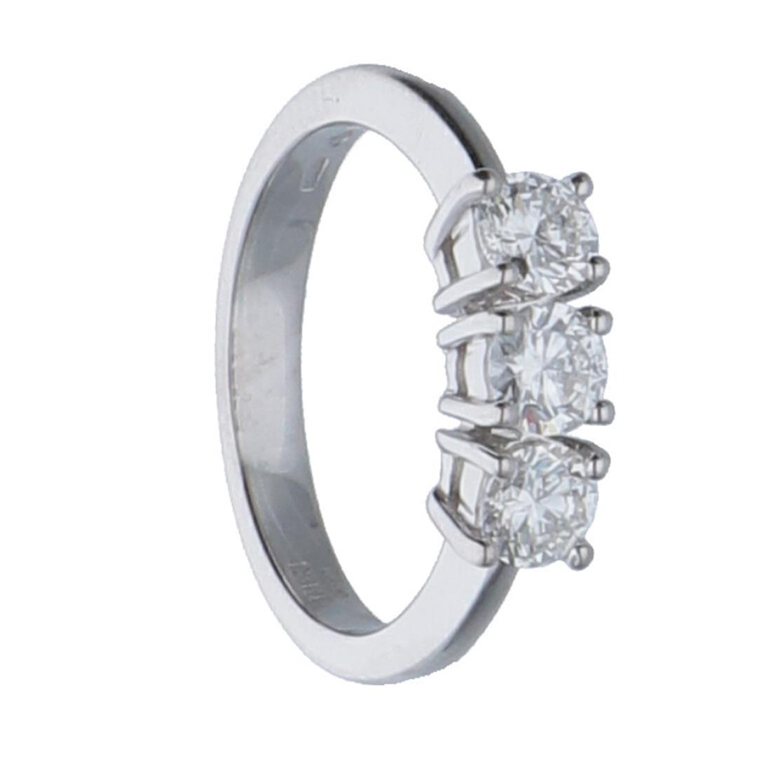 Anello trilogy in oro bianco con diamanti mis 12.5 - ALFIERI & ST.JOHN