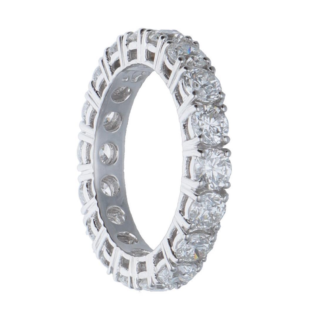 Anello eternity in oro bianco con diamanti mis 13 - ALFIERI & ST. JOHN
