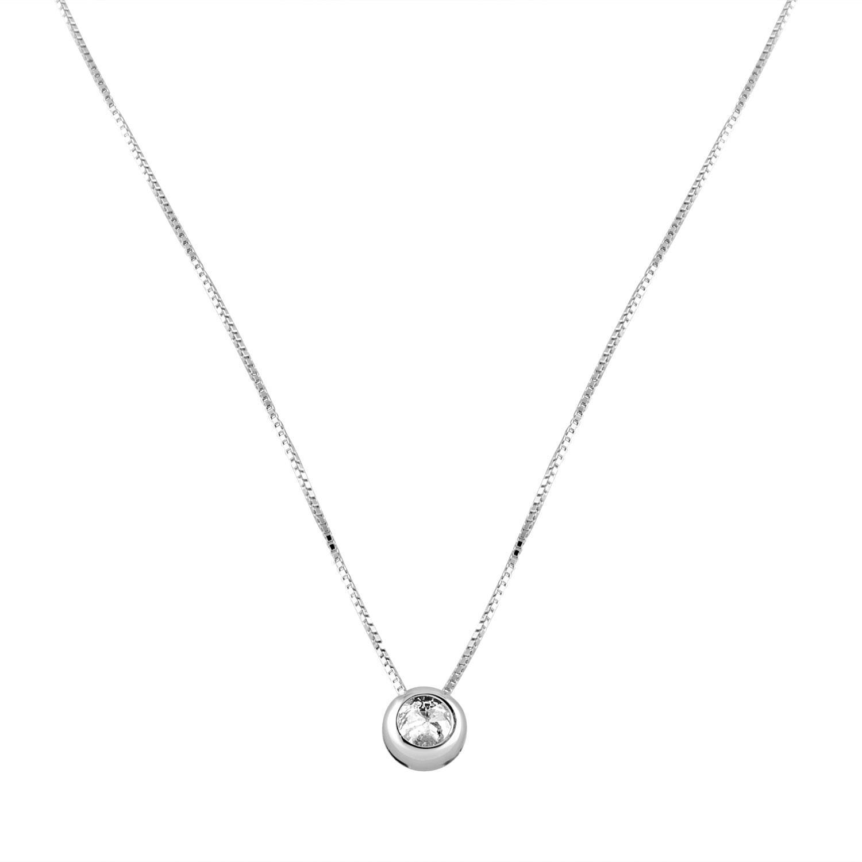 Collana in oro bianco con pendente e diamanti ct 0.24 - ALFIERI & ST. JOHN