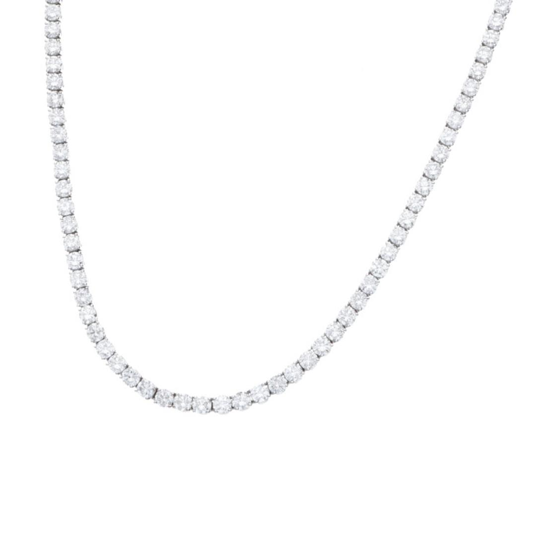 Collana tennis in oro bianco con diamanti 17.67 ct - ALFIERI & ST.JOHN