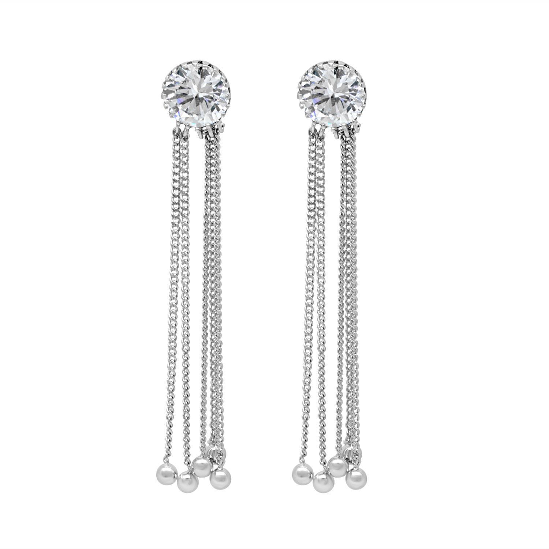 Orecchini in argento con zirconi - ORO&CO 925