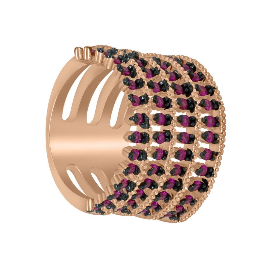 Anello in argento rosato con zirconi  - ORO&CO 925