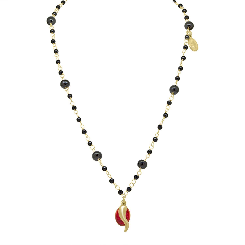 Collana in argento rosato con cornetti - ORO&CO 925