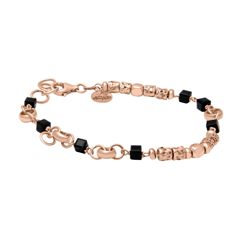 Bracciale in argento rosato, lunghezza 19 cm - ORO&CO 925