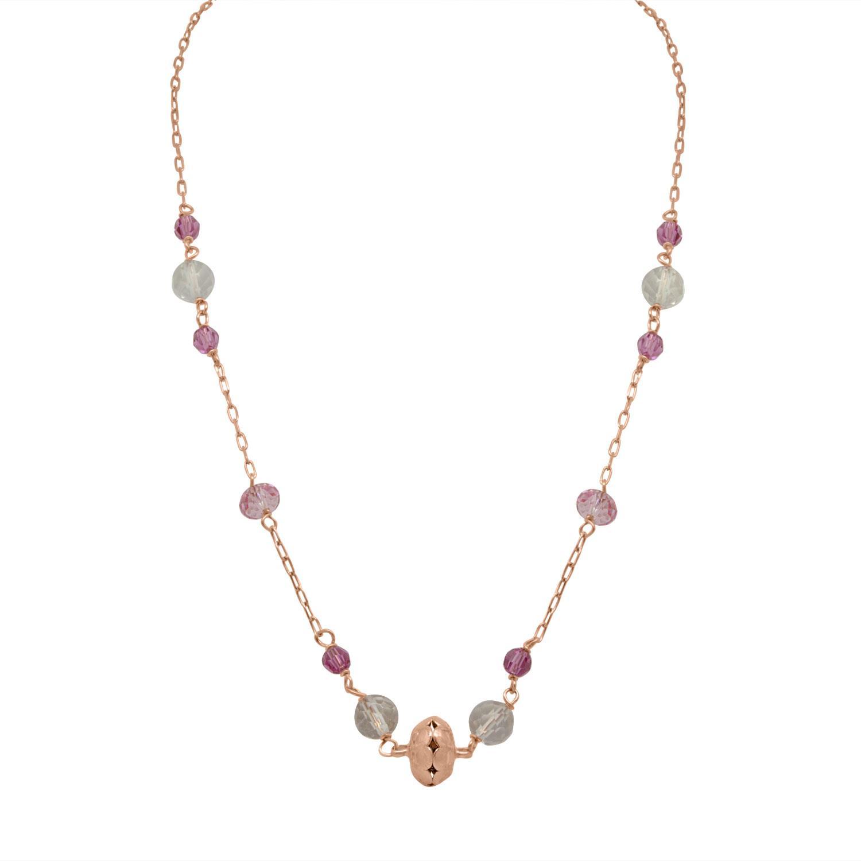 Collana in argento  e pietre colorate - ORO&CO 925