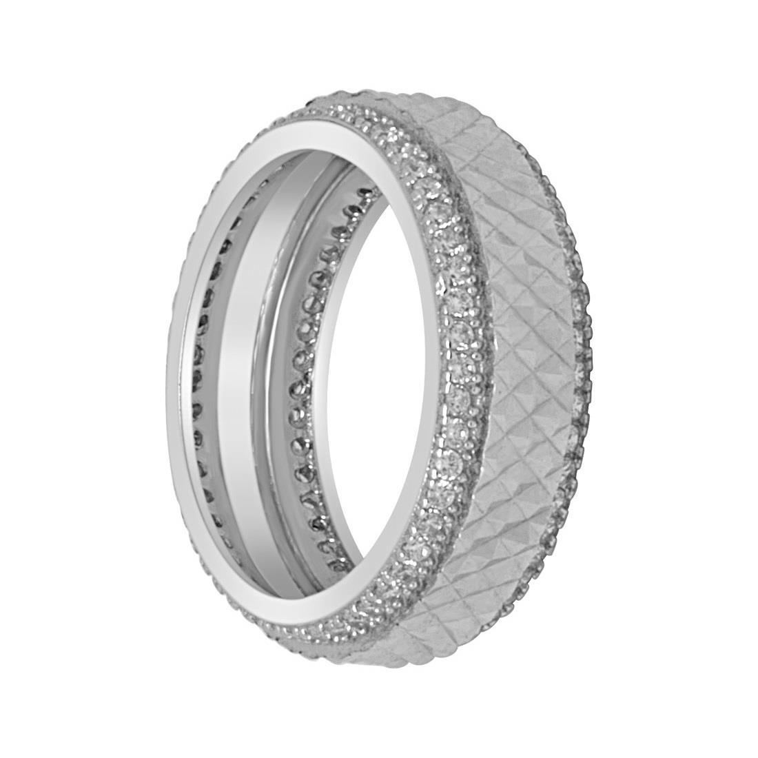 Anello a fascia in argento mis 14 - ORO&CO 925