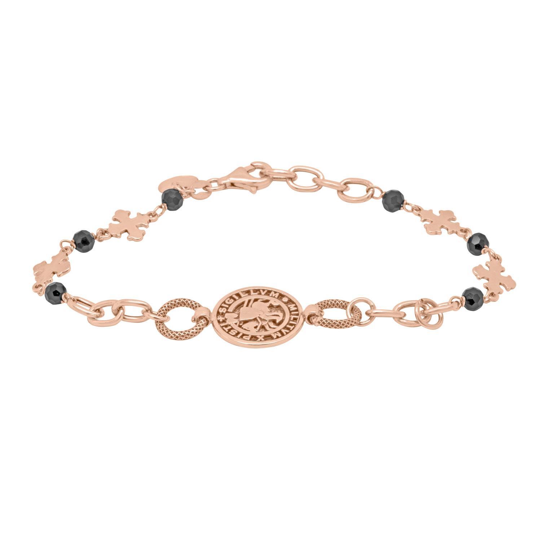 Bracciale design in argento rosè  - ORO&CO 925