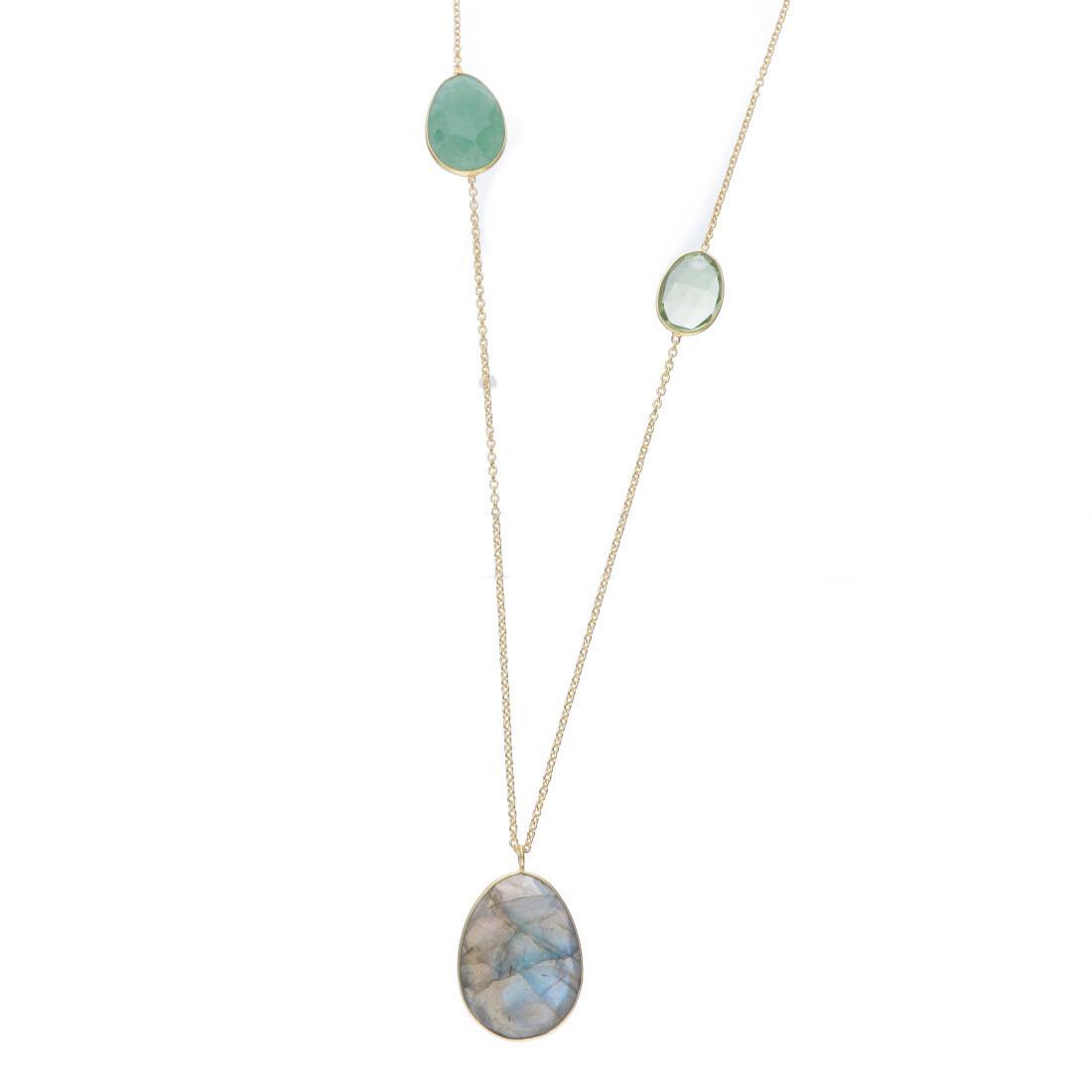 Collana lunga in argento con pietre naturali colorate - ALFIERI & ST.JOHN