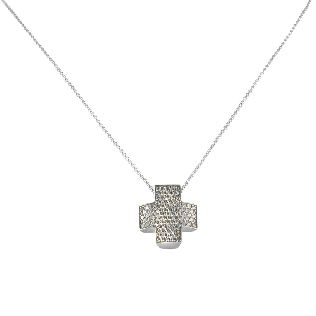 Collana in oro bianco con pendente  - ROBERTO DEMEGLIO