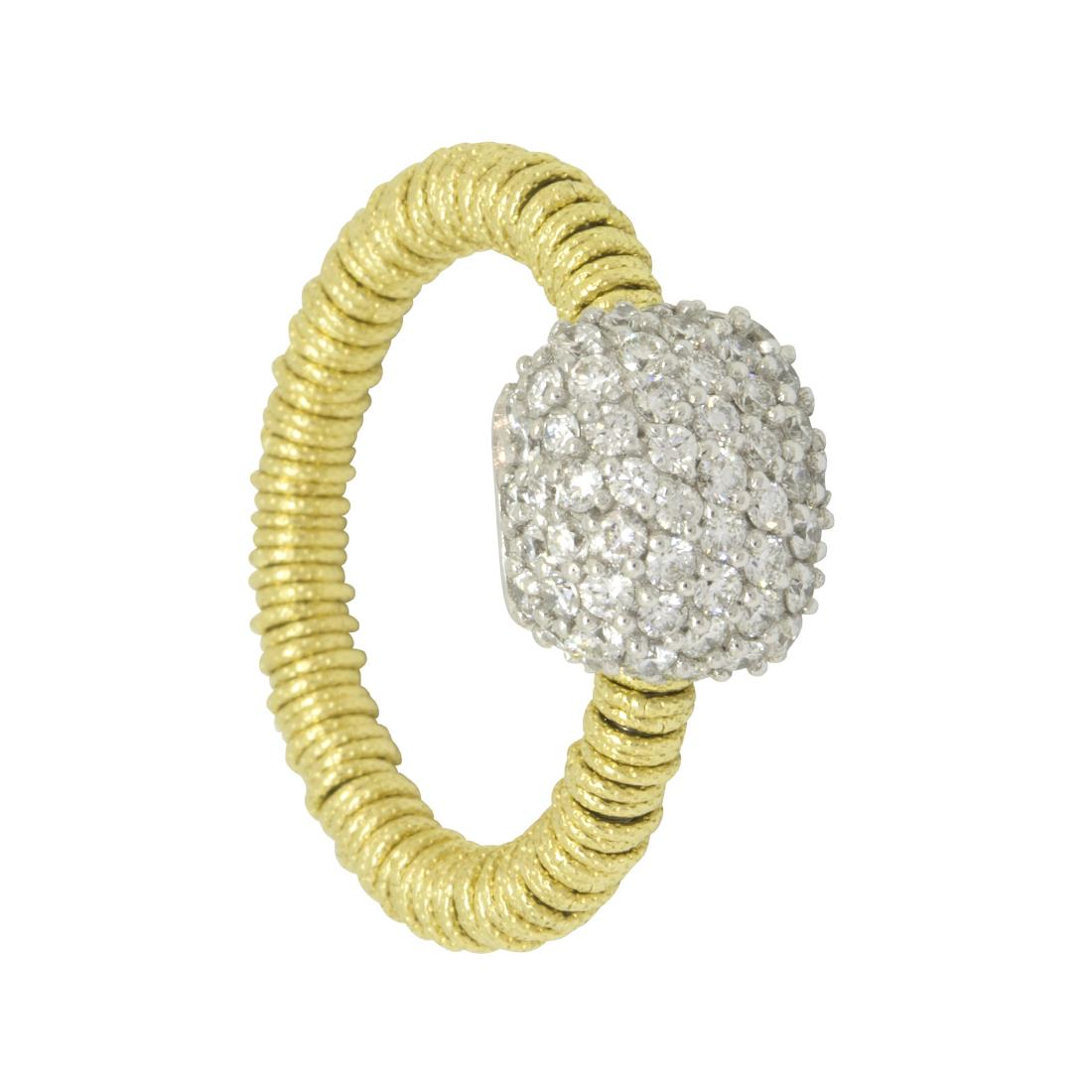 Anello in oro giallo con diamanti - ROBERTO DEMEGLIO