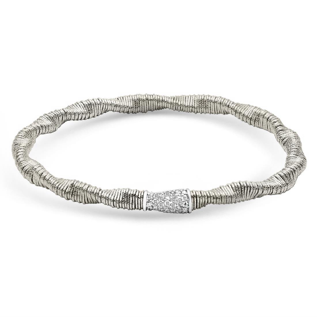 Bracciale in oro bianco con diamanti - ROBERTO DEMEGLIO