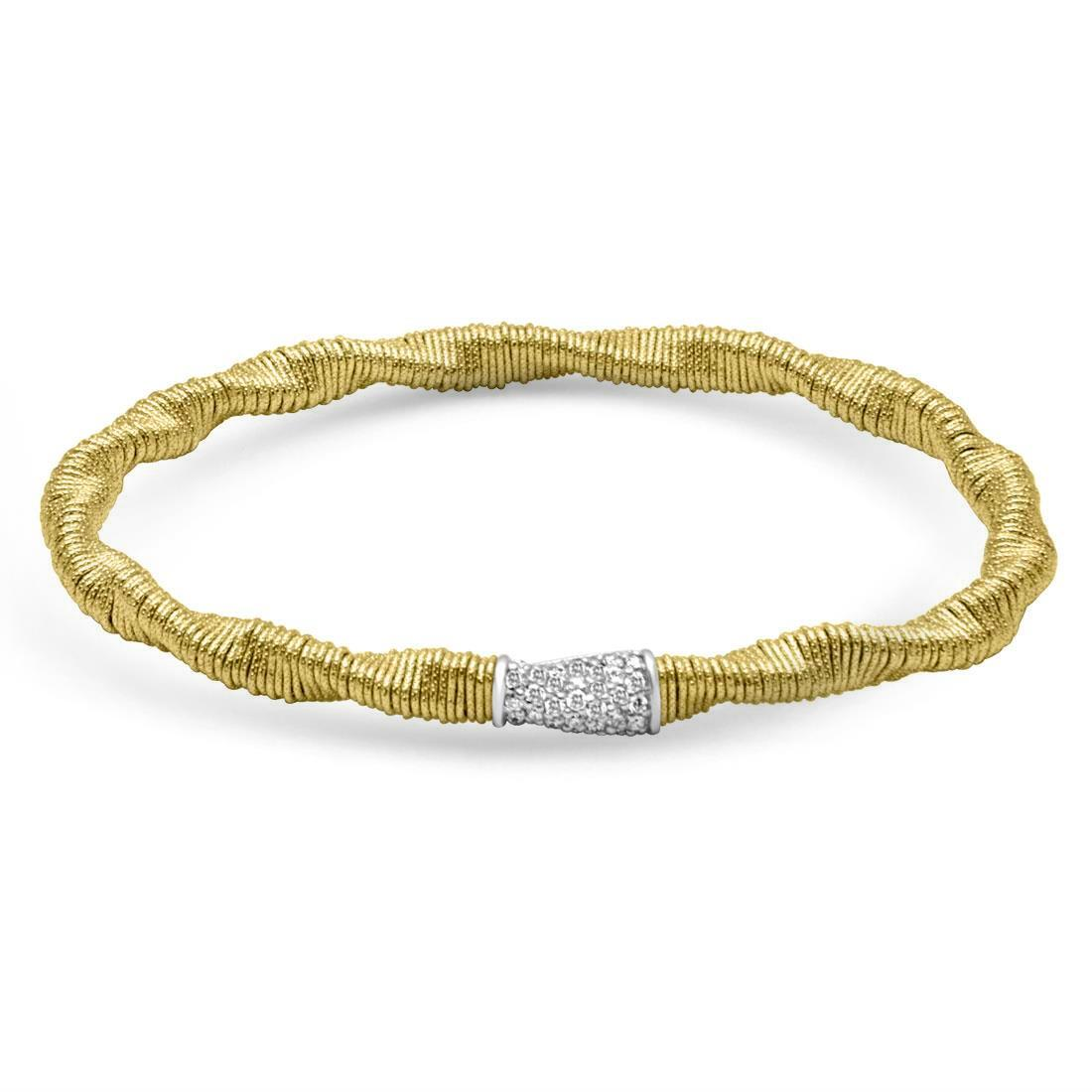 Bracciale in oro giallo con diamanti - ROBERTO DEMEGLIO