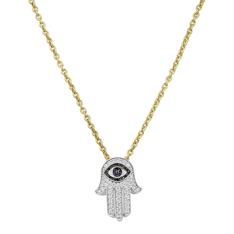 Collana in oro giallo con pendente in diamanti - ROBERTO DEMEGLIO