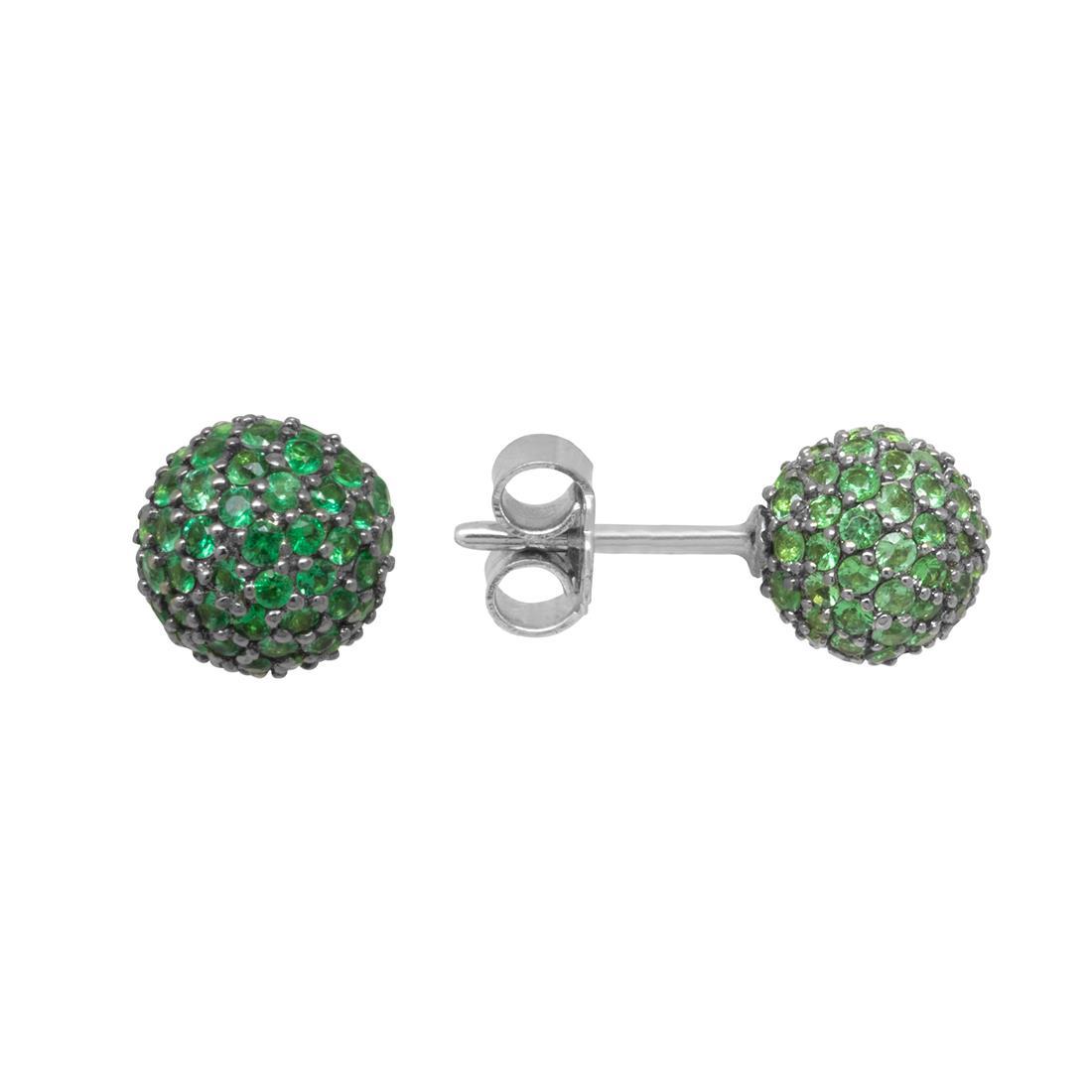 Orecchini a sfera in smeraldi - ROBERTO DEMEGLIO