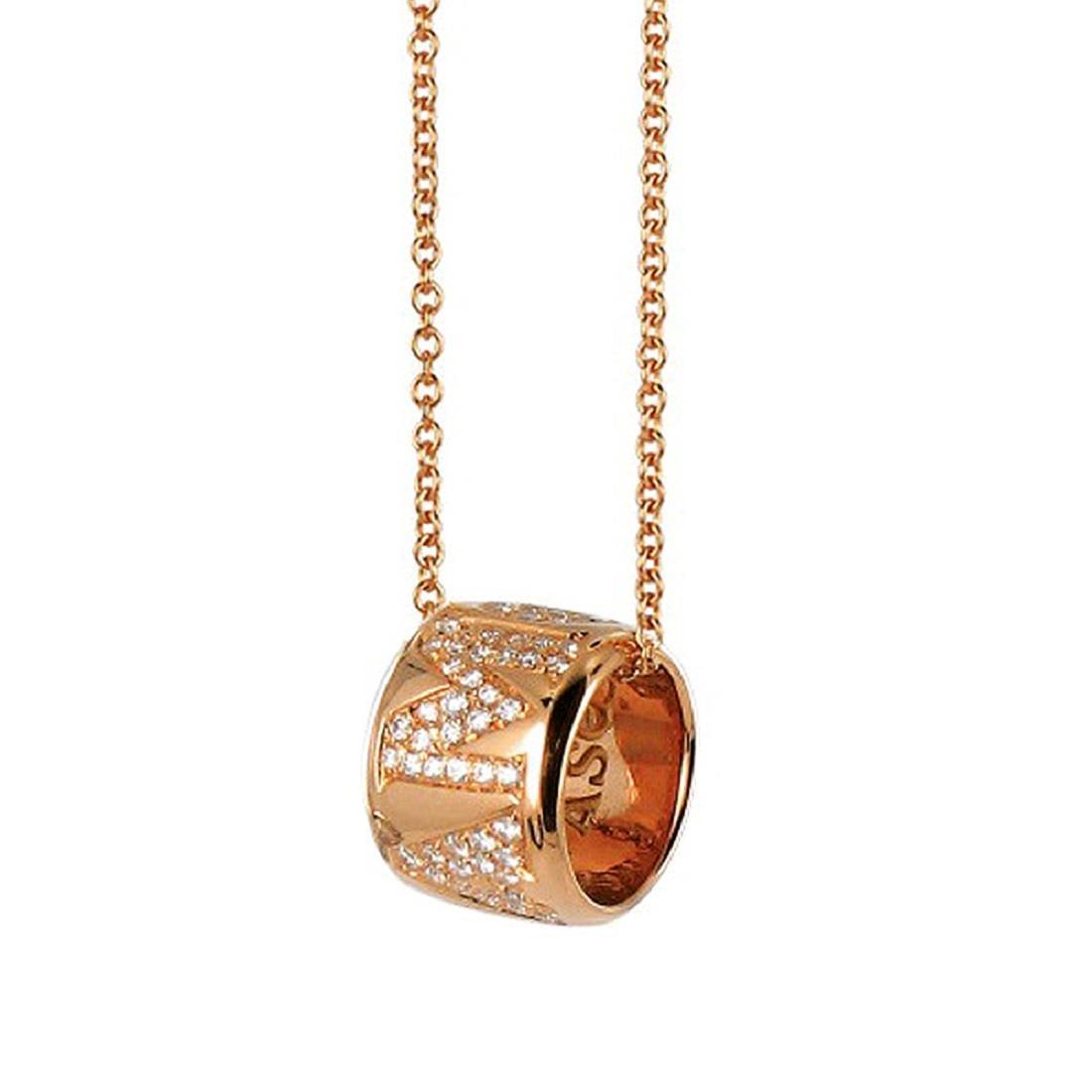 Collana in oro rosso e diamanti - PASQUALE BRUNI